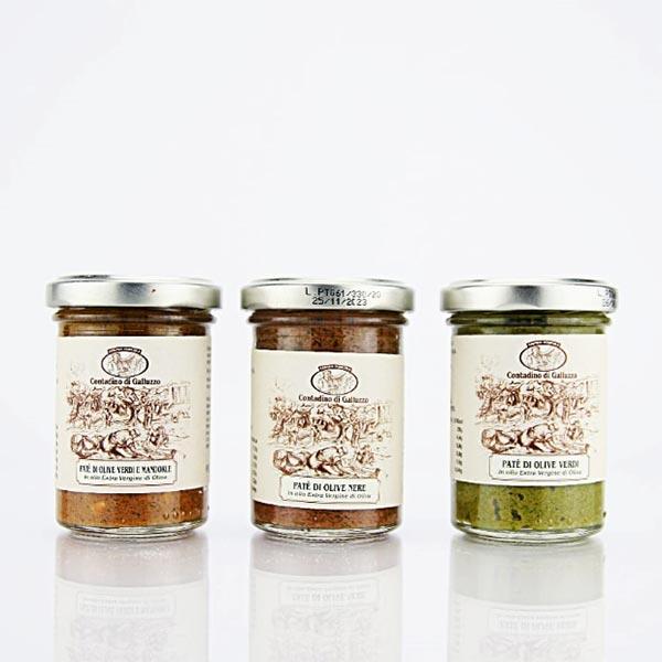 Tris Paté di Olive